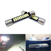 2x 29mm 31mm festoon car led c5w c10w 6641 6614f sun visor vanity mirror light door dome reading lamp license plate lights white