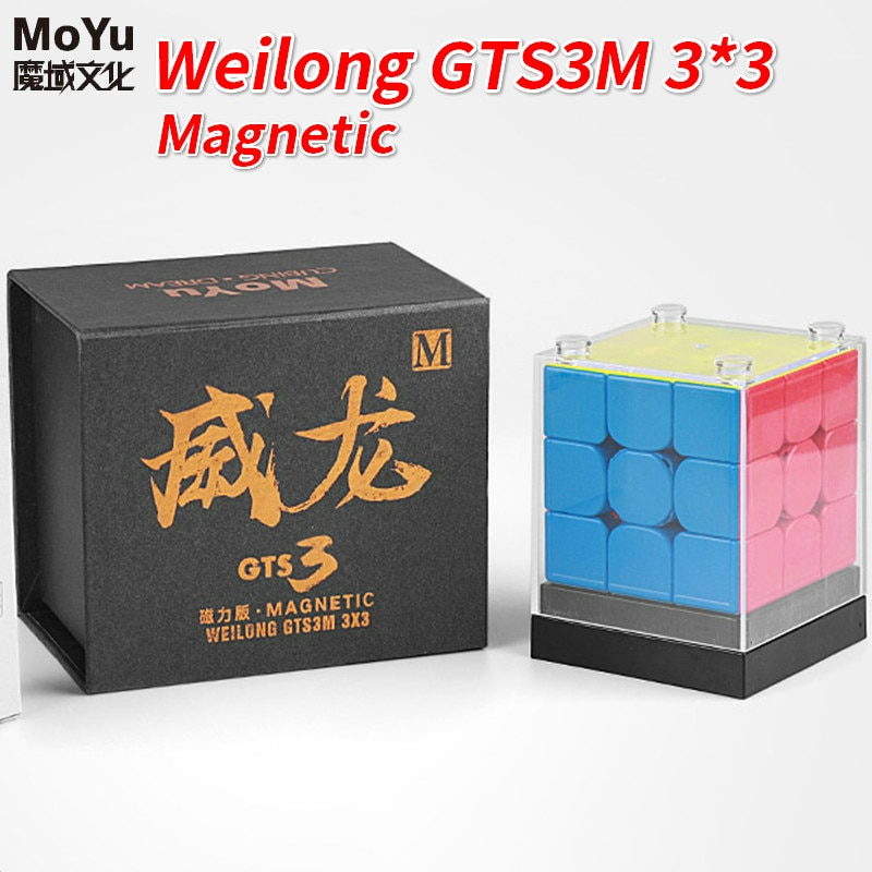 Cubo magnético weilong gts2/gts2m/gts3m speedcube weilong gts 2m cubo mágico magnético moyu 3x3x3 weilong gts 3 m