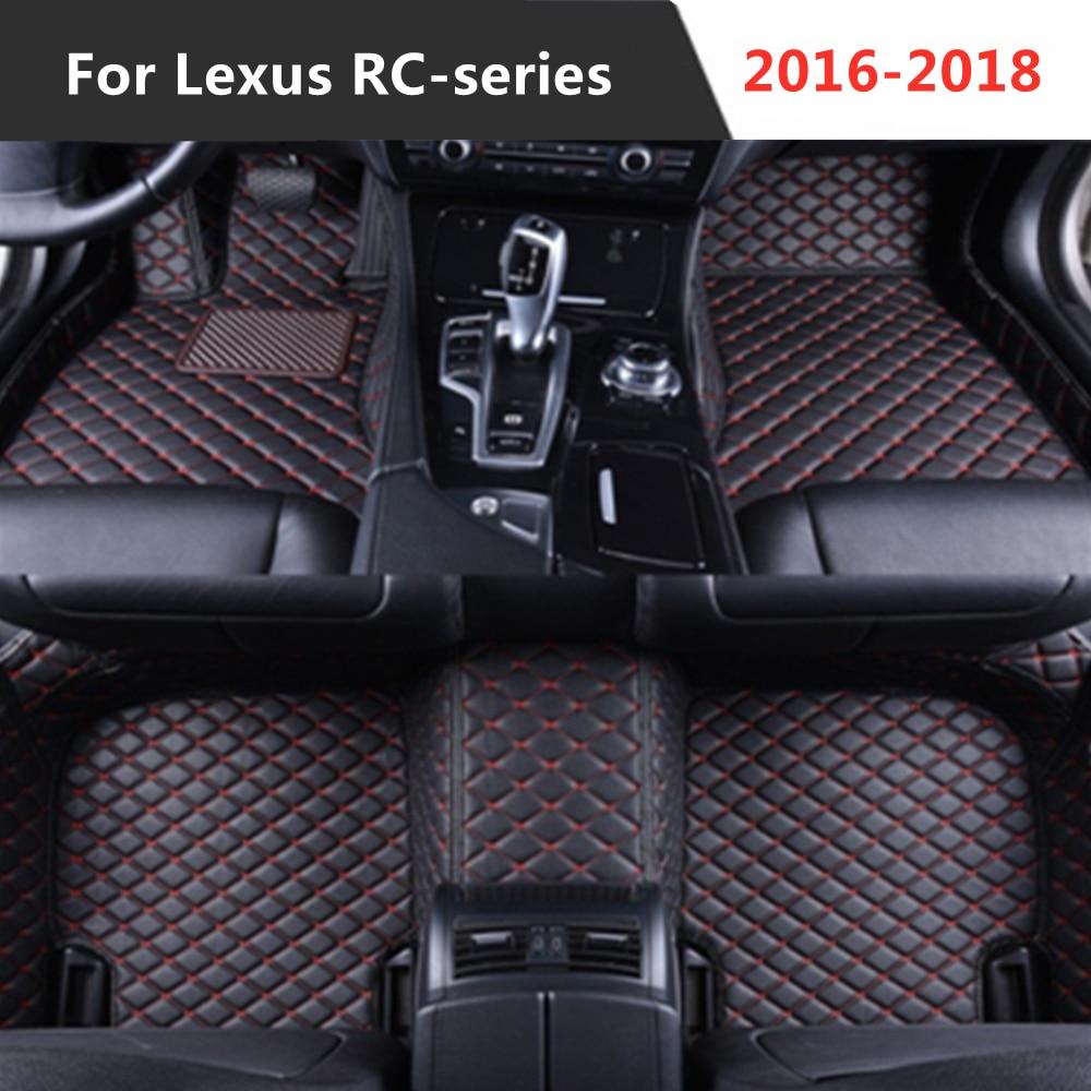 Para Lexus RC-series (2016-2018) 2017 Año de cuero Auto alfombrilla de pies...