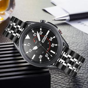 Premium Stainless Steel Watchband 22mm 20mm for Samsung Galaxy Watch3 45mm 41mm Men Women Wrist Band Watch 3 Strap Black Silver