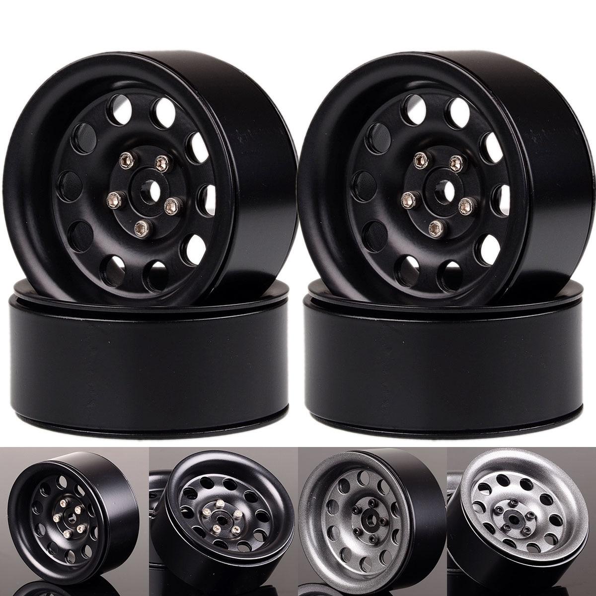 "NEW ENRON 4P 2.2 ""Metal  Beadlock Wheel Rims Hub for SCX10 RR10 90053 AX10 Aro para 1/10 RC Crawler Axial Wraith 90056 90045"