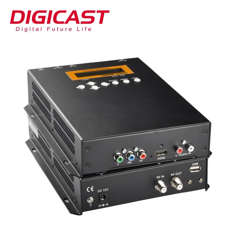 (DMB9592) رقميّ catv رأس تجهيز hd إلى RF dvb-t معدّل جهاز تشفير لمحطة سكة حديد مطار