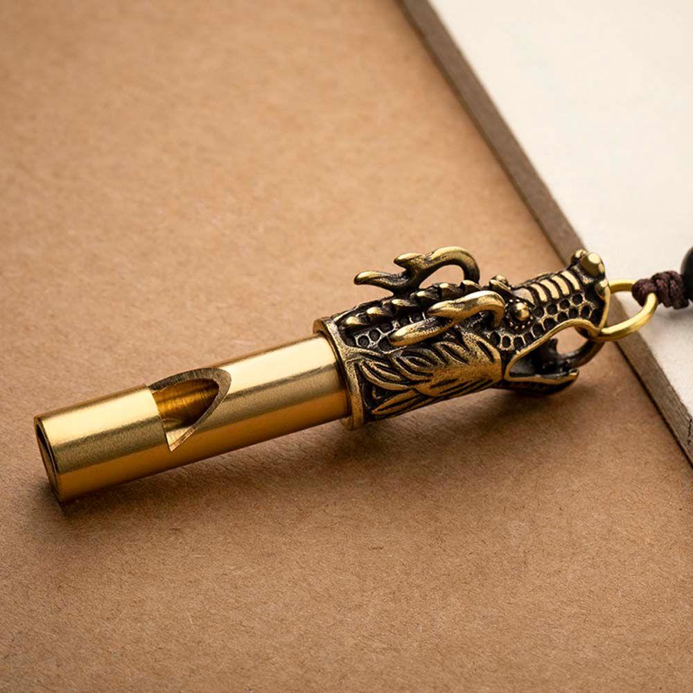 Инструменты для выживания на природе, свистки, ожерелья, брелки, подвеска ручной работы, латунный свисток с головой дракона, брелки для авто...