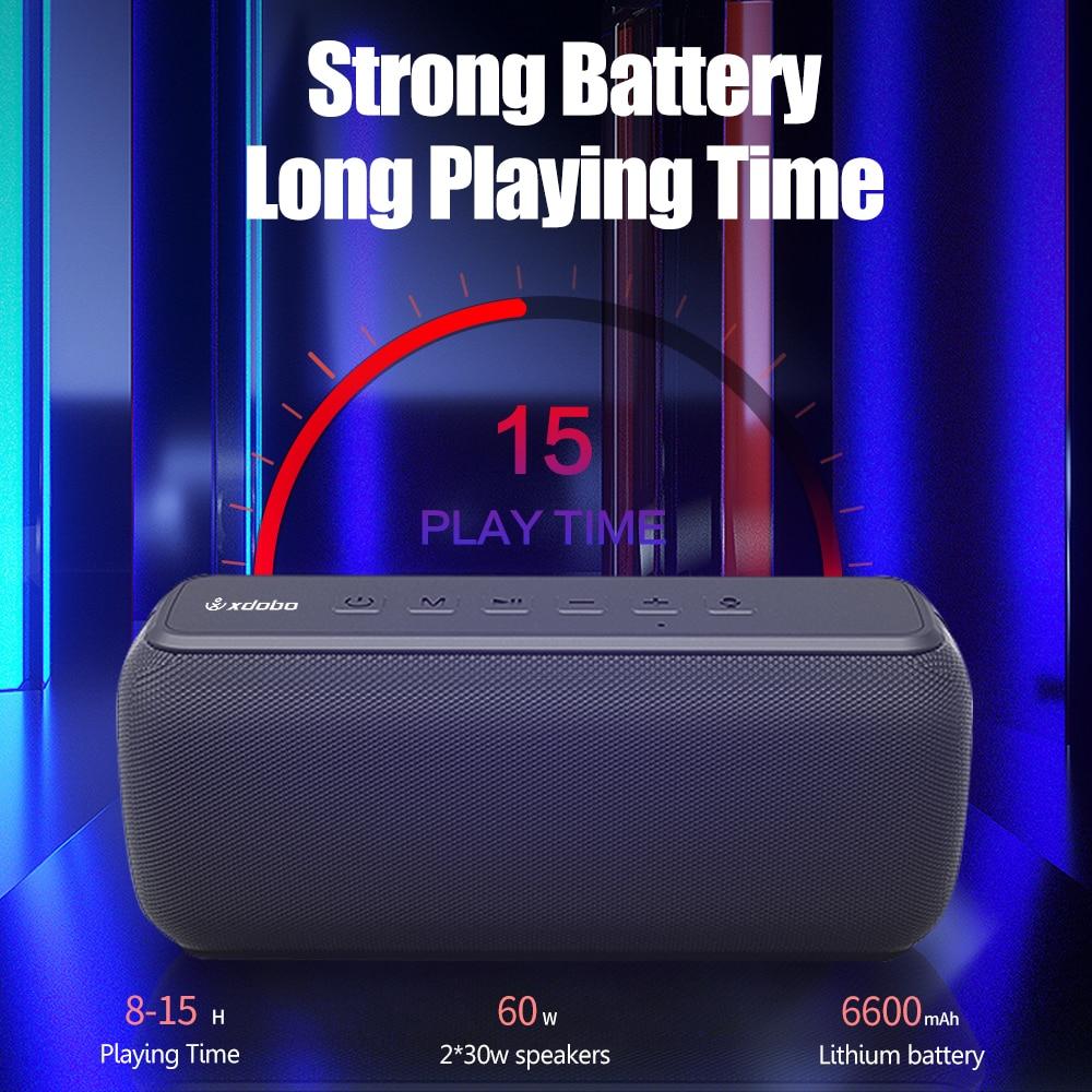 YOUXIU Potable Bluetooth Speaker Outdoor Waterproof 60W IPX5 Super Bass Stereo TWS Soundbar Subwoofer Voice Assistant Hands Free enlarge