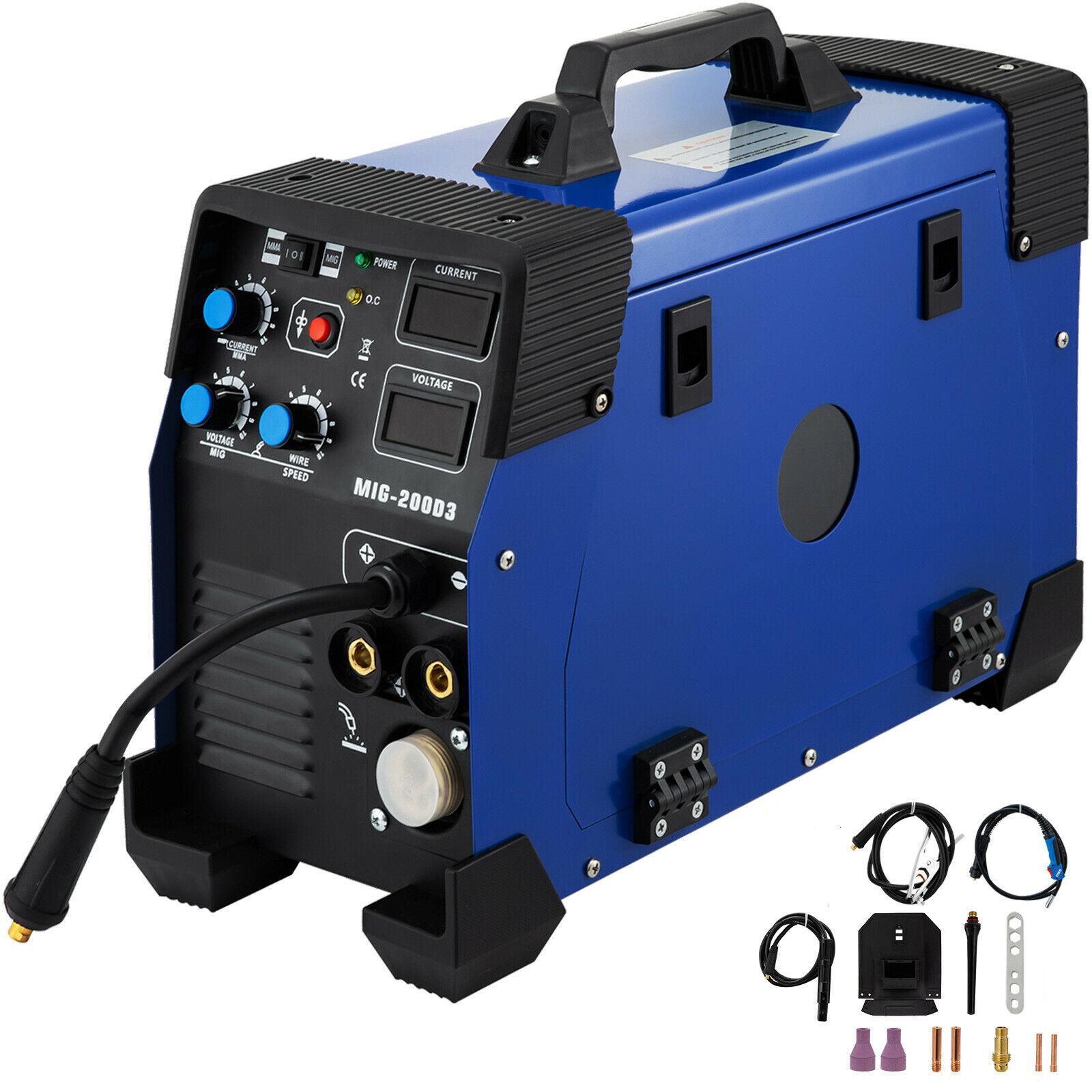 TIG MIG инвертор сварочный аппарат MAG MMA E-Hand FCAW электрод сварочный аппарат 230V 200A