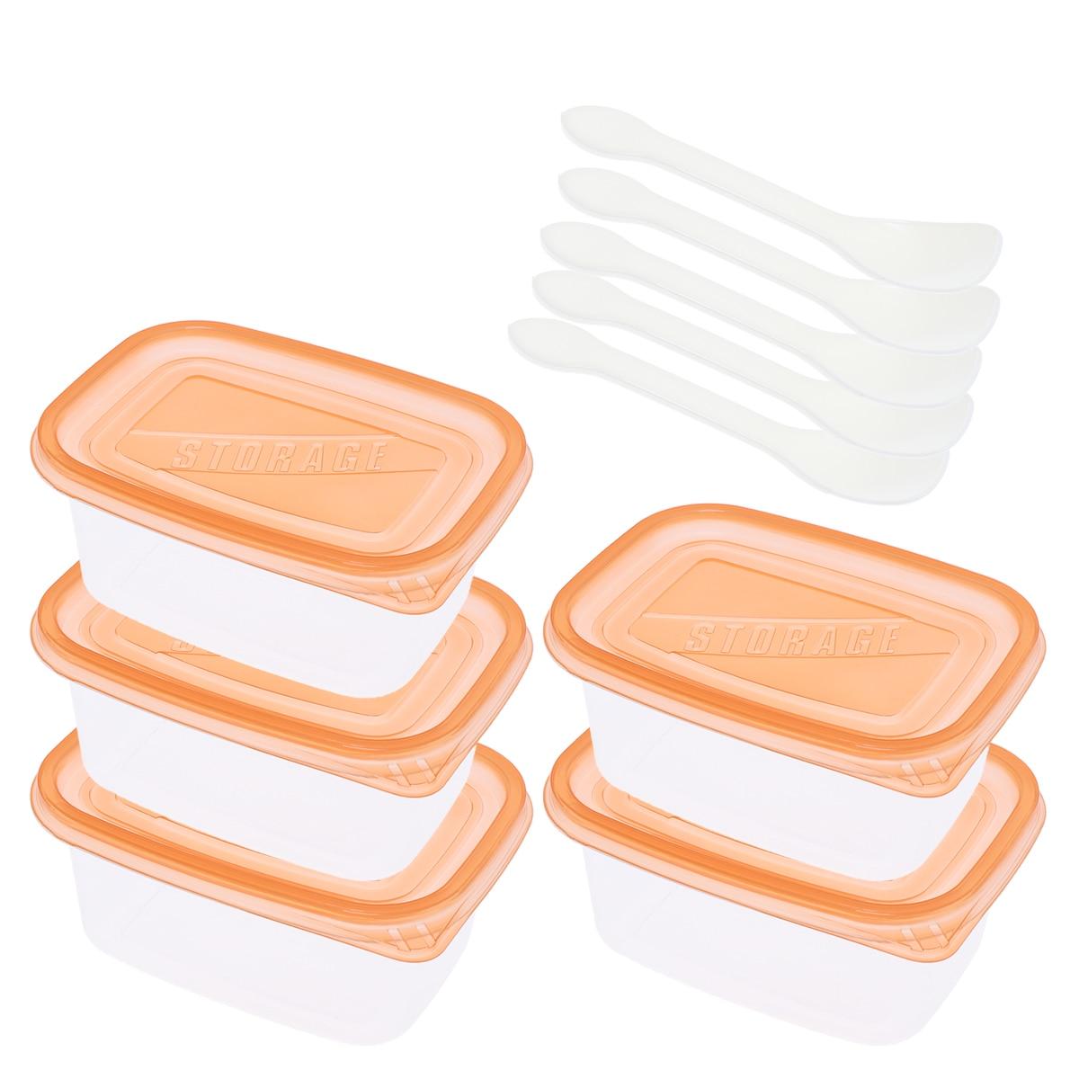 Contenedores de comida de 280ml /709ml con tapas, caja de almacenamiento de alimentos para tartas y pasteles, caja desechable para llevar Bento