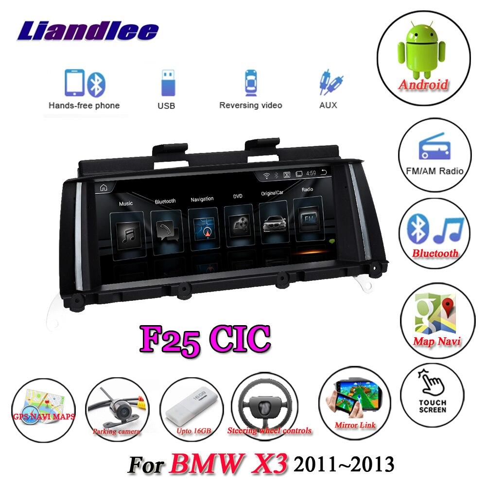 Para BMW X3 F25 2011-2013 Original CIC sistema coche Android 10,0 reproductor Multimedia Carplay Androidauto GPS navegación pantalla HD