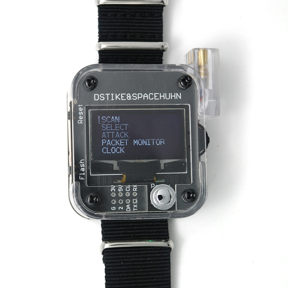 DSTIKE WiFi Deauther V1 V2 V3 Wristband Wearable ESP8266 Development Board Smart Watch DevKit Arduino NodeMCU ESP32 IoT