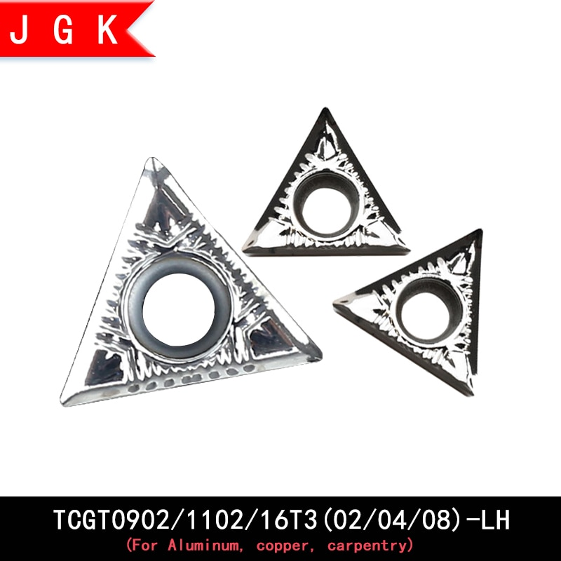 Inserto de ranurado triangular TCGT090202, TCGT090204, TCGT110202, TCGT110204, TCGT16T302, TCGT16T304, tgtgt16ttt308, para aluminio