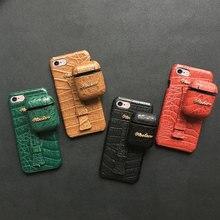 Чехол из крокодиловой кожи пу с ремешком на запястье для iPhone 11 Pro Max XS 7 8 6 6S Plus X XR, чехол для наушников Airpods Pro