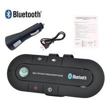 Multipunto Speakerphone 4,1 + EDR inalámbrico Bluetooth manos libres coche Kit MP3 reproductor de música para IPhone Android Dropship caliente