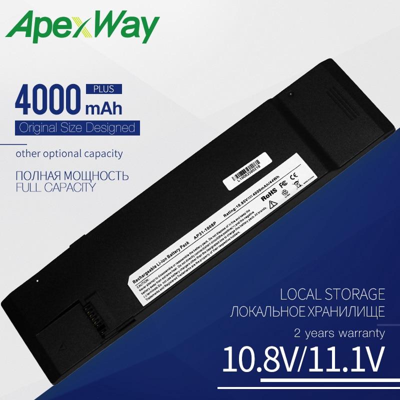 Apexway 4000 mah 10.95 v bateria do portátil 07g031001700 AP31-1008P AP32-1008P para asus para o computador eee 1008kr 1008 p