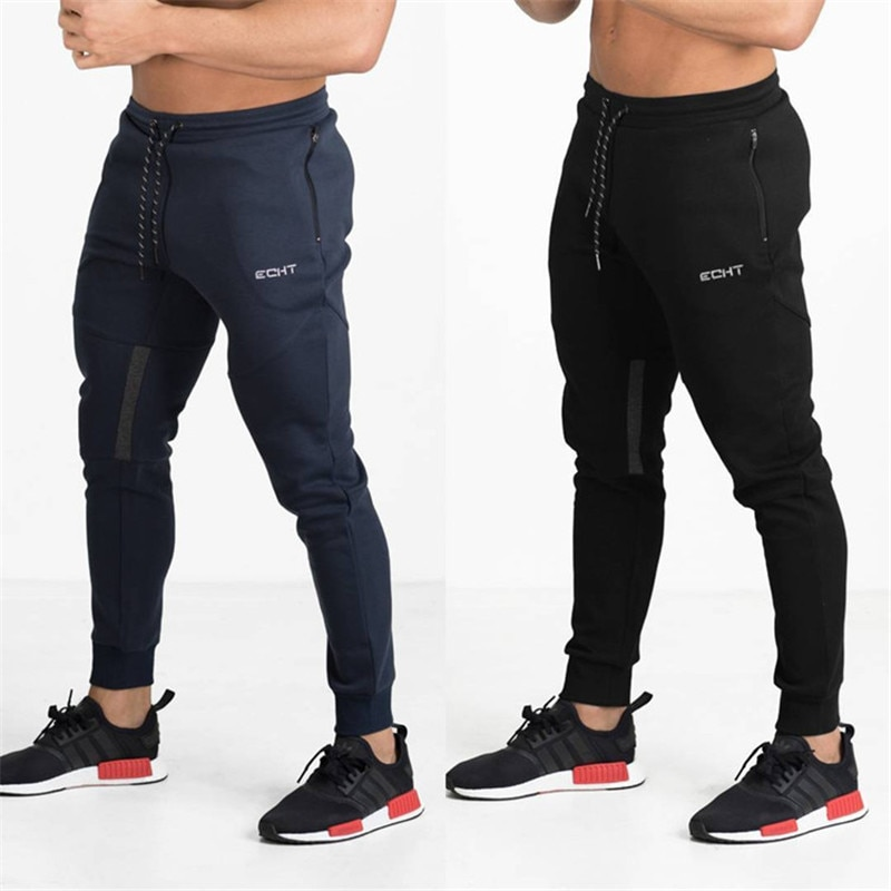 Брендовые спортивные мужские джоггеры, спортивные мужские тренировочные штаны, джоггеры с карманами на молнии, хлопковые брюки, спортивная...