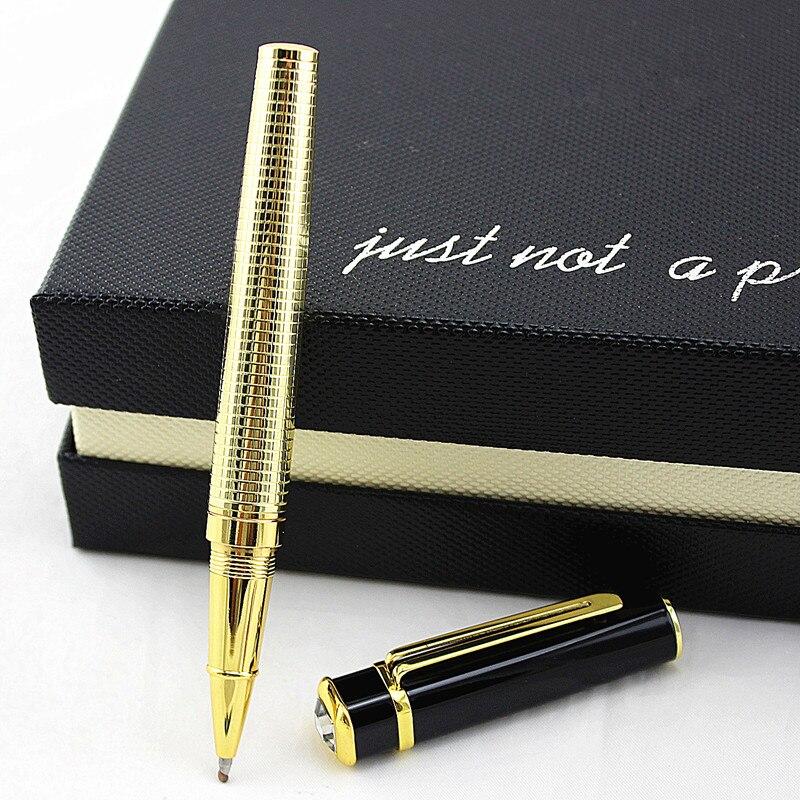 De alta calidad de Metal llena de lujo de bolígrafo de escritura firma caligrafía bola bolígrafos material de oficina