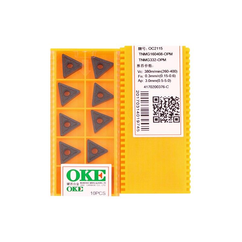 150 Uds. Descuento TNMG160408-OPM OC2115/OC2125 100% Original China OKE carburo inserto 10 uds/lote envío gratis
