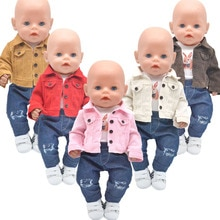 Dolls clothes for 43cm Toys new born doll and American doll Fashion jacket brown, light gold, khaki,
