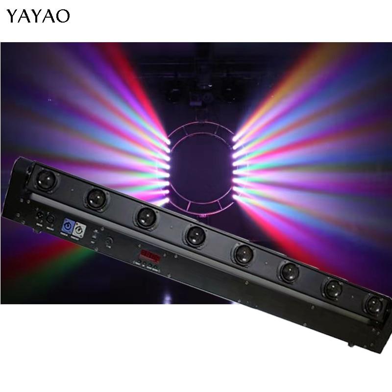 YaYao  LED Bar Beam Moving Head Light RGBW 8x12W Perfect For Mobile DJ Disco Party Nightclub Dance Floor Bar