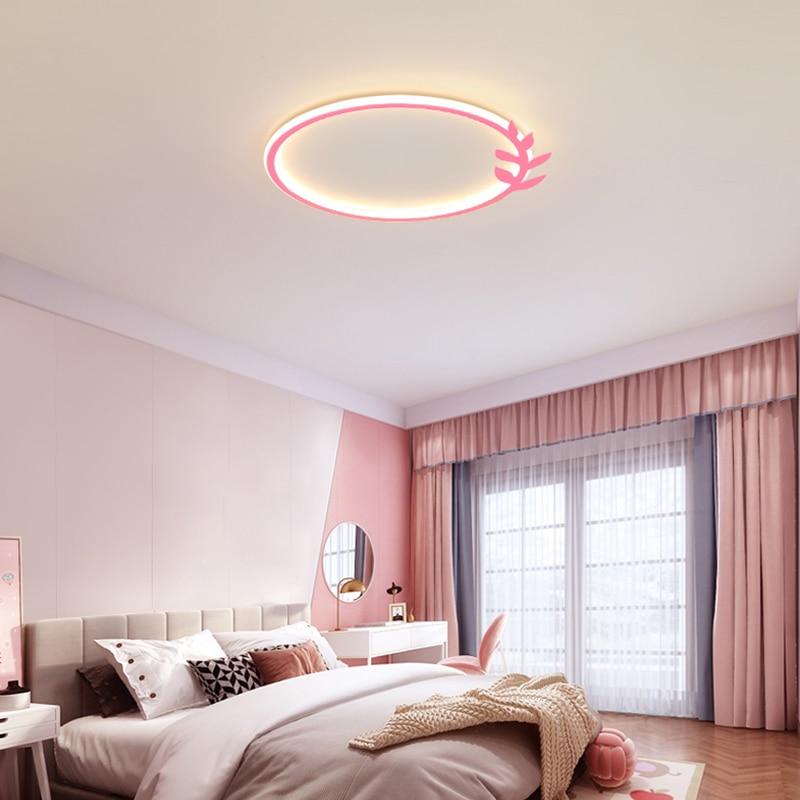 Ultra Thin Simple Led Ceiling Lights For Living Room Restaurant Bedroom Ceiling Lamp Round Aluminum Modern Flush Panel Light