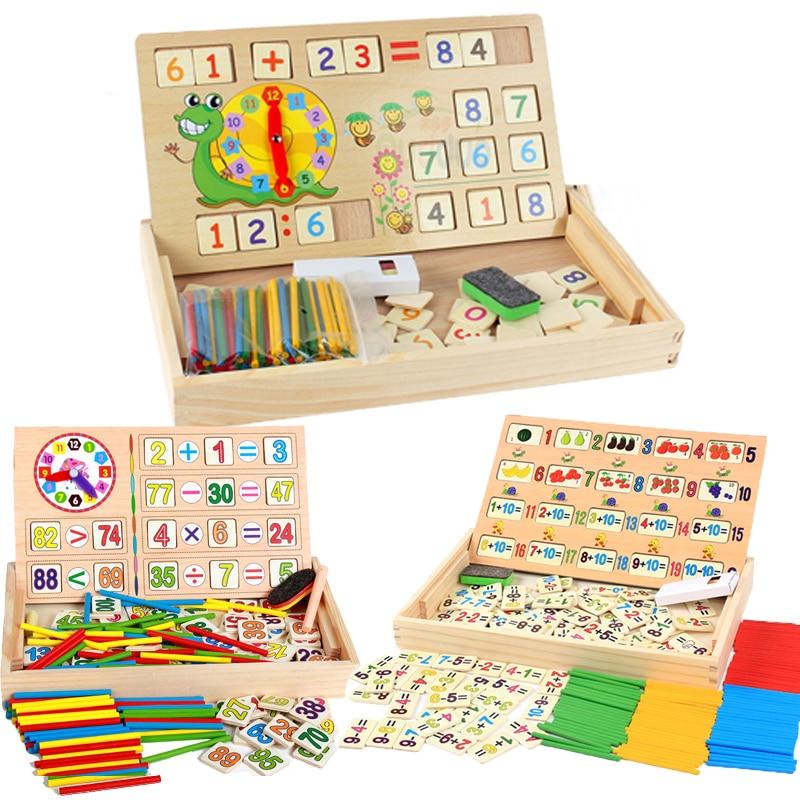 Математическая деревянная игрушка для детей Монтессори, ранние строительные палочки, познавательные развивающие математические игрушки д...