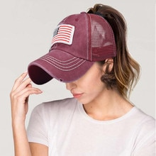 Amerikanische Flagge Stickerei Baseball Caps Männer Frauen Snapback Hip Hop Hut Sommer Atmungsaktives Mesh Sonne Gorras Unisex Streetwear Knochen