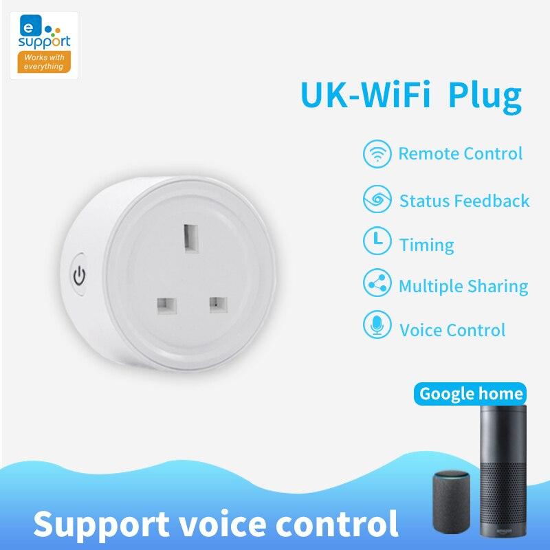 Wifi Smart Plug eWeLink Smart Socket Smart Home Voice Control  US UK Plug Outlet Compatible Alexa Amazon Google Home Mini IFTTT