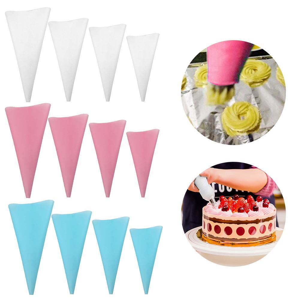 Ferramentas de decoração de cozimento reutilizáveis eva material creme saco de pastelaria squeeze bico bolo pastelaria saco acessórios da cozinha