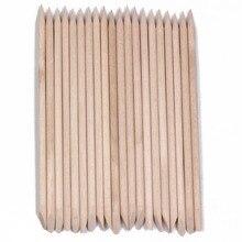 Wholesale 50 Pieces/pack Professional Nail Art Pedicure Manicure Tool Teak Wood Stick Dotting Pen