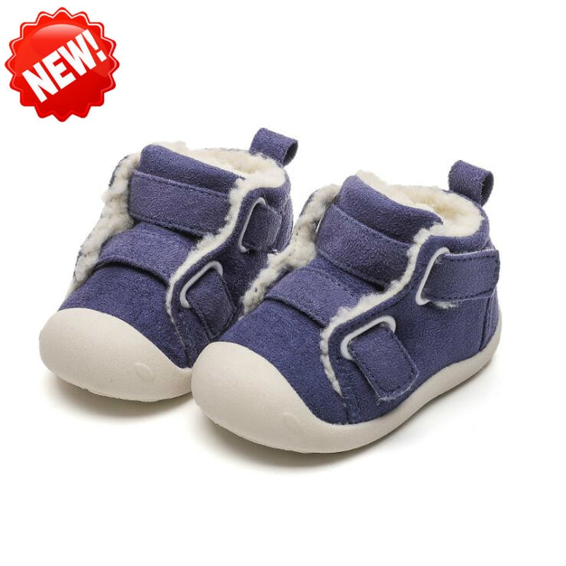 kids winter snow boots boys girls mid calf slip resistant children s rubber boots plush warm outdoor casual shoes size 24 39 2020 Winter Infant Toddler Boots Warm Plush Baby Girls Boys Snow Boots Outdoor Soft Bottom Non-Slip Children Boots Kids Shoes