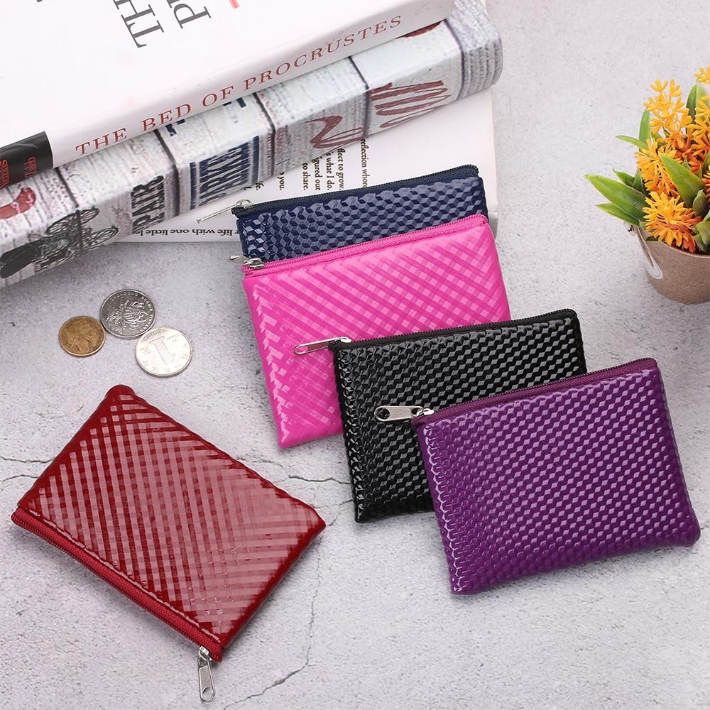 1Pcs נשים עור מטבע ארנק רוכסן חמוד אשראי בעל כרטיס קטן ארנק נשי ארנקי אוזניות שפתון אחסון פאוץ מיני תיק