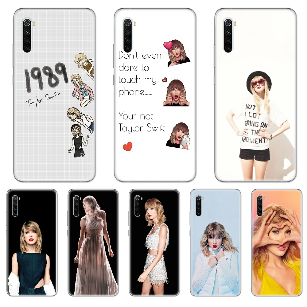 Funda protectora para teléfono Taylor Swift t-swizzle Tay para xiaomi Redmi 3S 4A 5A 6A 5 Plus 4X 7 8 8a CC9 K20 Pro K30 transparente