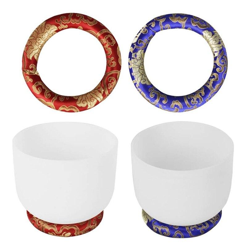 Dropship-Paquete de 2 almohadones redondos hechos a mano para jugar al cuenco de canto tibetano de 7 pulgadas de diámetro