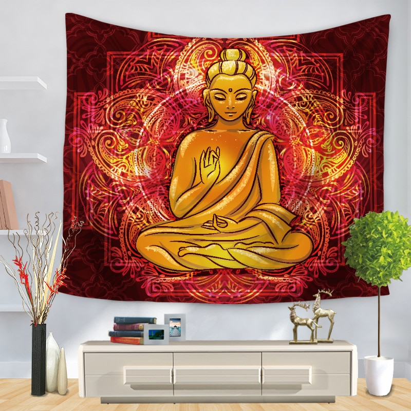 Creative Personality Pattern Indian Buddhist Tapestry Decorative Wall Tapestry