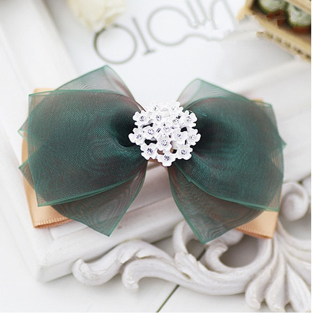 women exquisite hair accessories fabric big bow spring clip hair clip handmade ribbon duckbill clip hair ring spring clip HDJ013