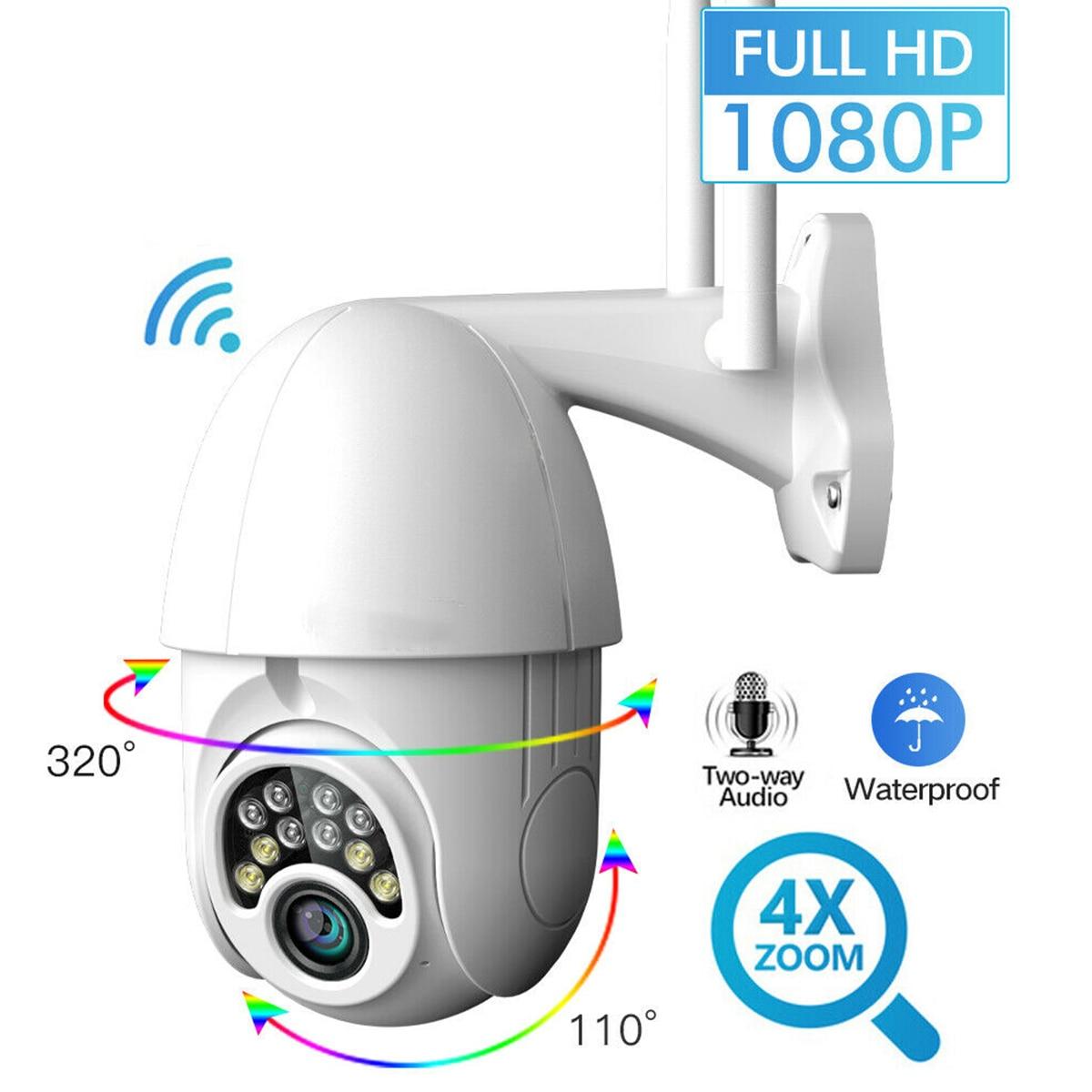 Cámara IP inalámbrica SOONHUA, WIFI, 1080P, para exteriores, cámaras PTZ, cámara impermeable de 2.0MP, compatible con Audio bidireccional con adaptador de corriente