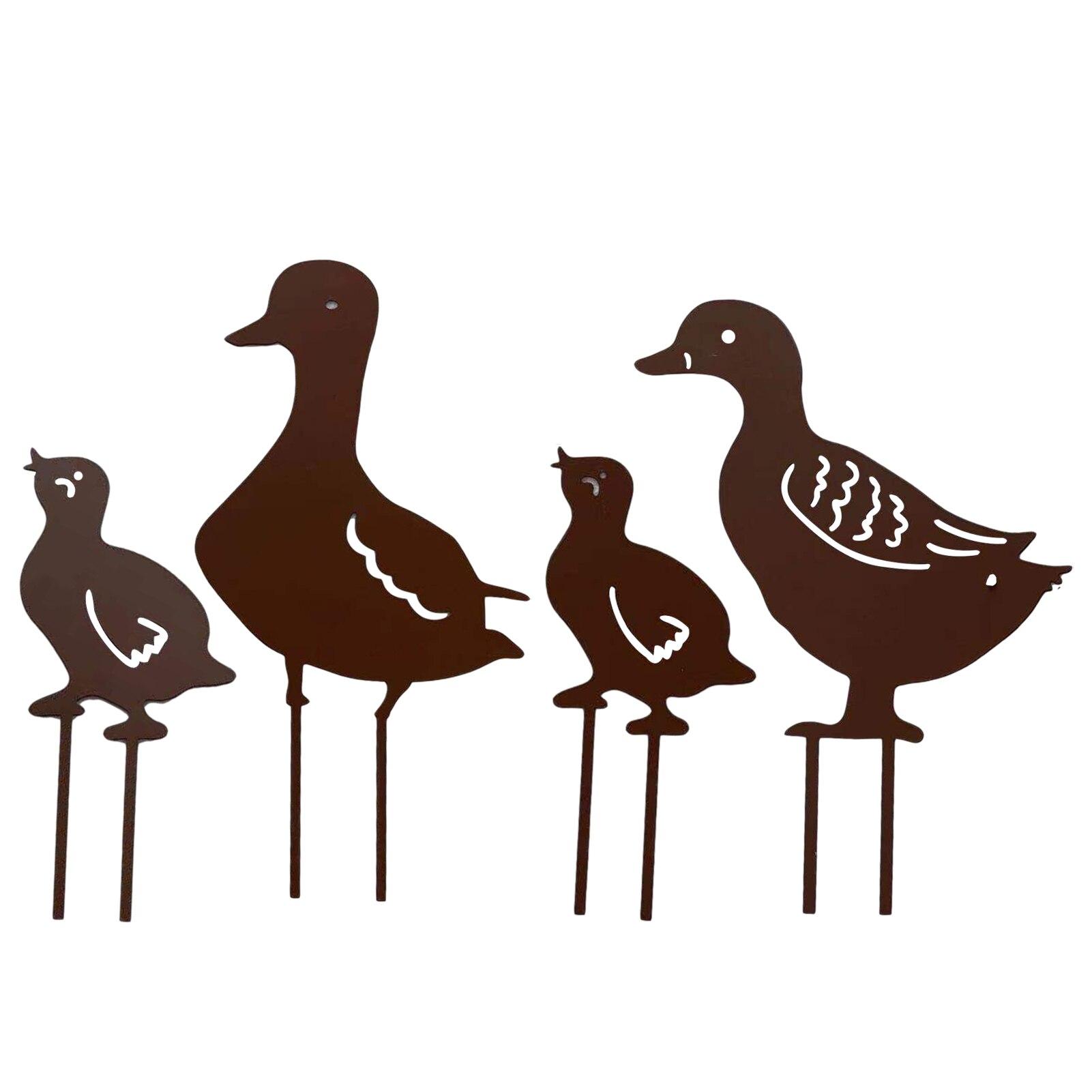 Новая декоративная утка для сада, уличные садовые статуи, пластиковая утка, курица, двор, искусство, утка, искусство, украшение для сада, двор...