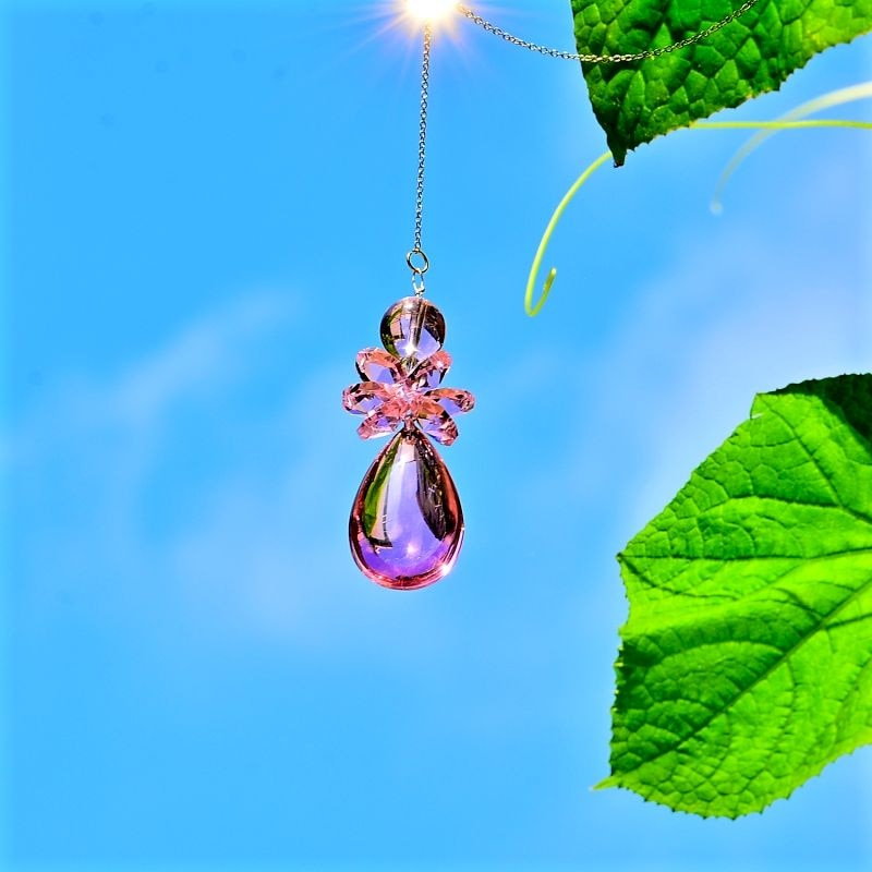 garden suncatchers angel crystal pendant hanging crystal window decoration wedding garden housewaring gifts car charms fengshui