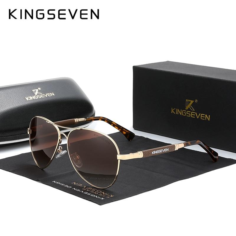 KINGSEVEN 2021 الاتجاه الجديد جودة سبائك التيتانيوم الرجال النظارات الشمسية نظارات شمسية مستقطبة النساء الطيار مرآة نظارات Oculos دي سول