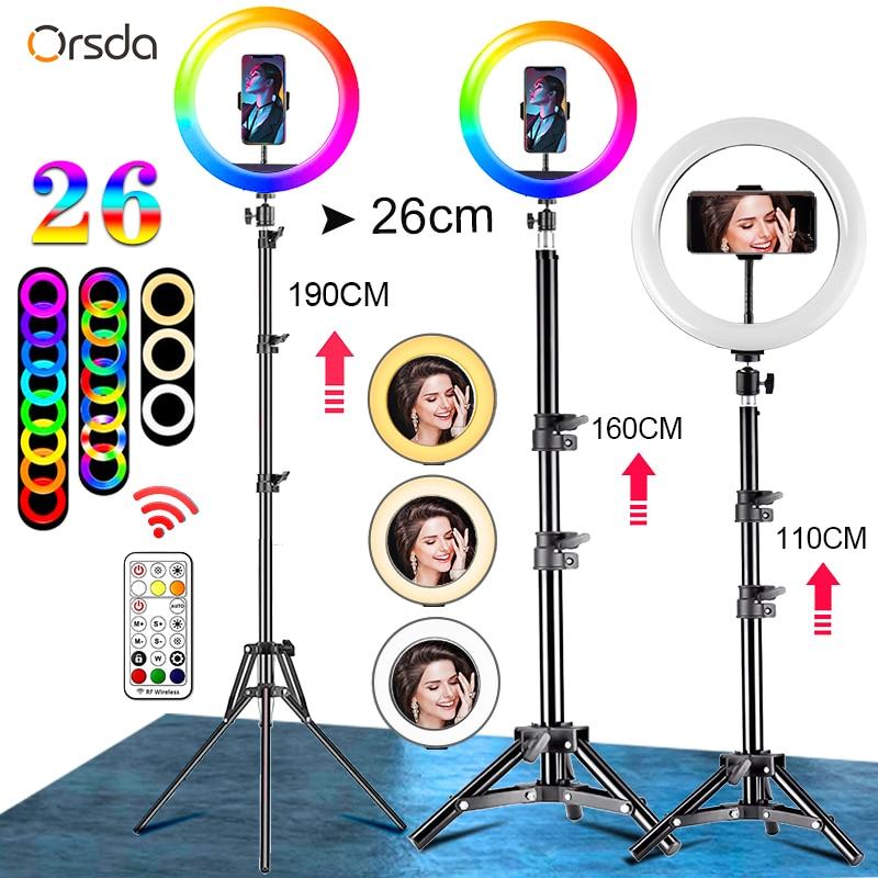 Orsda 10-12 Inch Led Ring Light With Tripod RingLight Selfie Ring Light for Makeup Video Live Aro De Luz Para Hacer Tik Tok