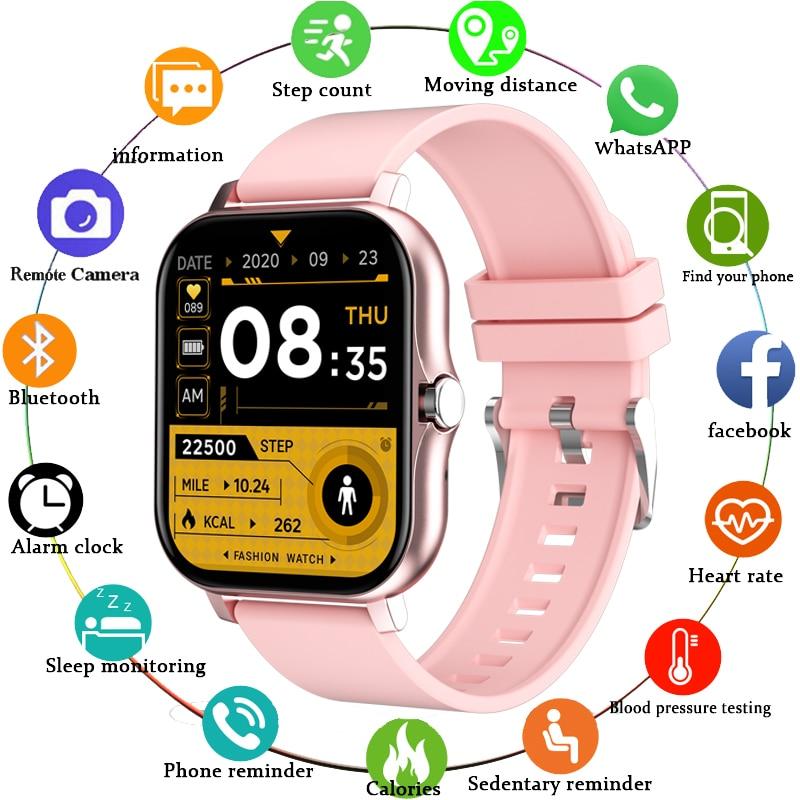 LIGE 2021 New Smart Watch Women Men Bluetooth Call Fitness Tracking Heart Rate Custom Dial Sports Wa