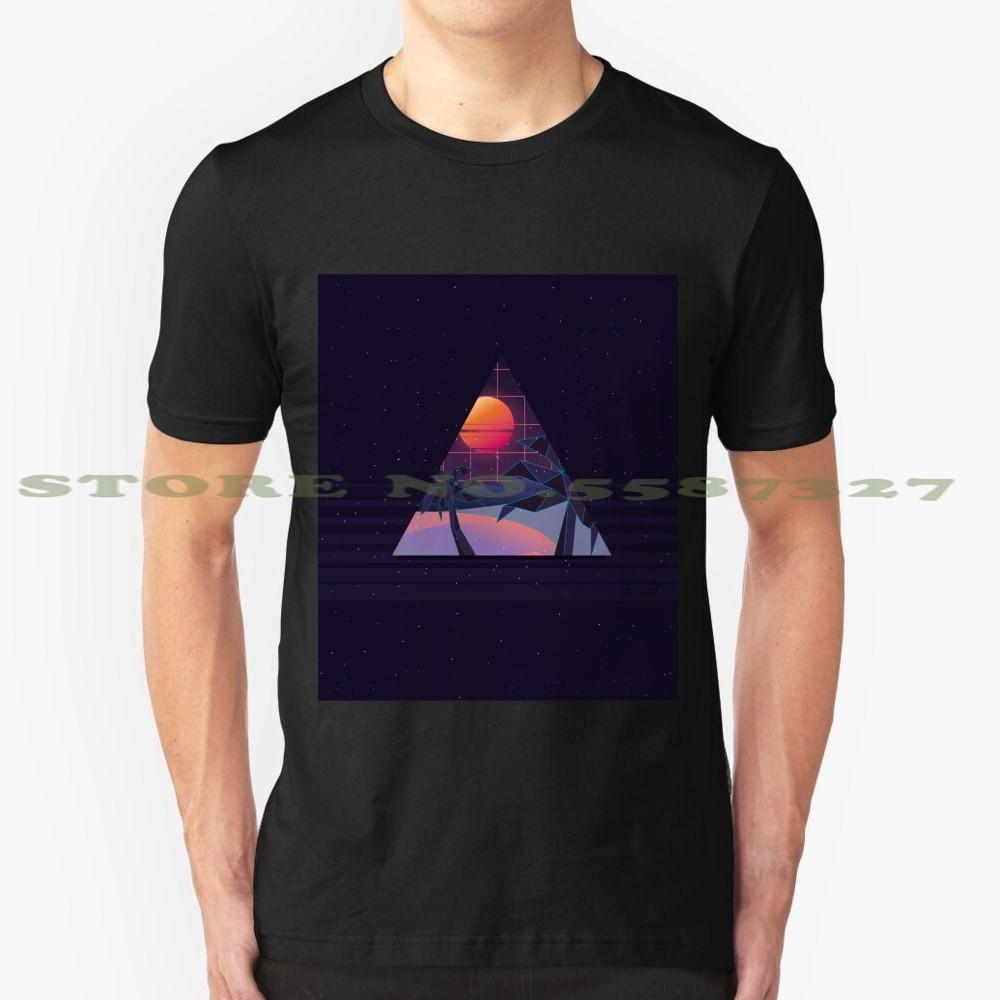 Camiseta divertida de verano para hombres y mujeres de los años 70 y 80 para los años 90, fantástica camiseta Retro de estilo geométrico con vídeo de ciencia ficción de los años 80