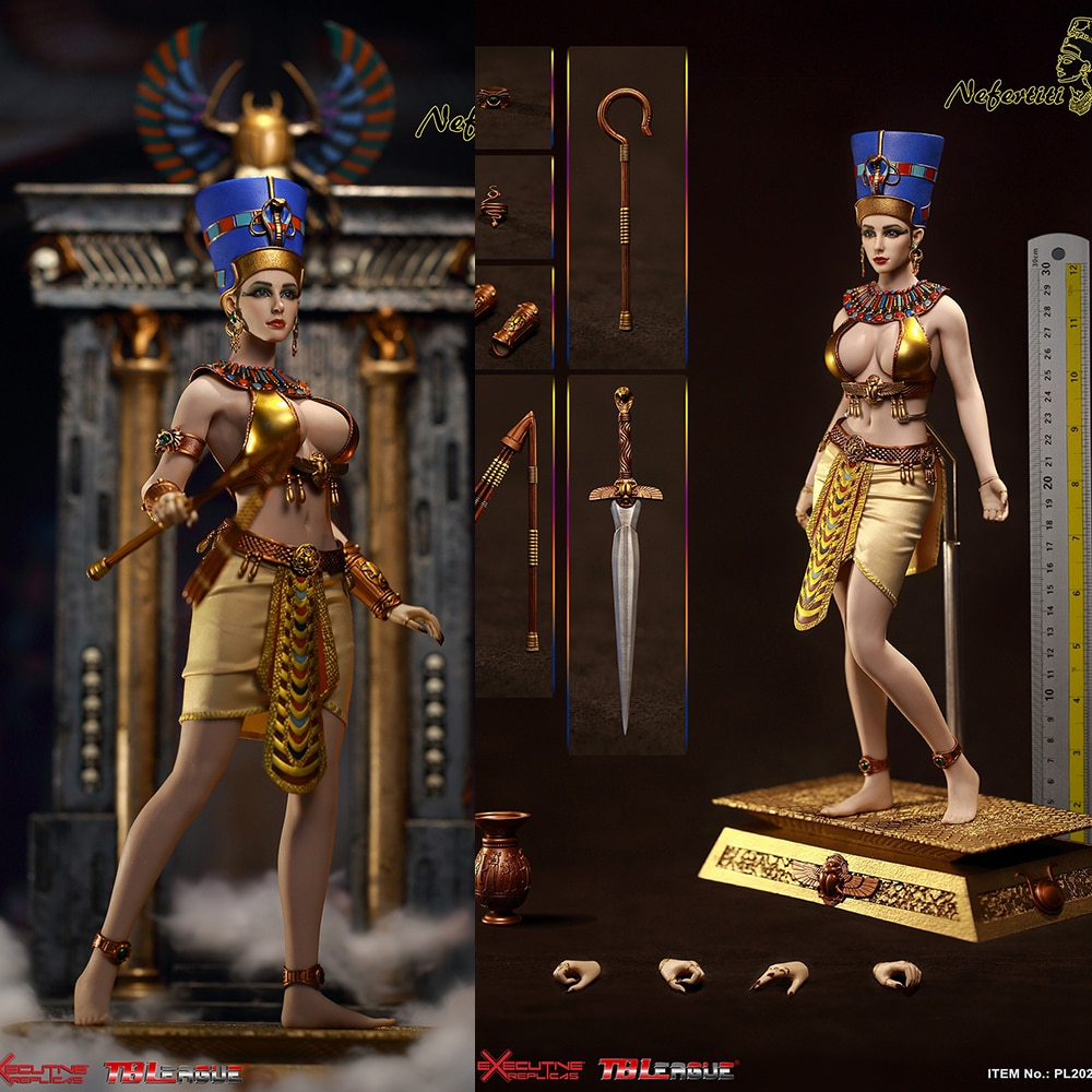 "1/6 REINA DE PL2020-164 del Antiguo Egipto Nefertiti cuerpo 12 ""figura femenina"