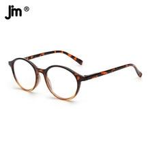 JM Vintage Runde Lesebrille Frauen Demi Frühling Scharnier Gläser für Reader Männer Frauen
