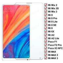 Закаленное стекло с полным покрытием для Xiaomi Mix 2S Max 2 3 Poco F1 F2 Pro X3 NFC стекло для Mi 8 SE A2 Lite Mi6 6X Защитная пленка для экрана