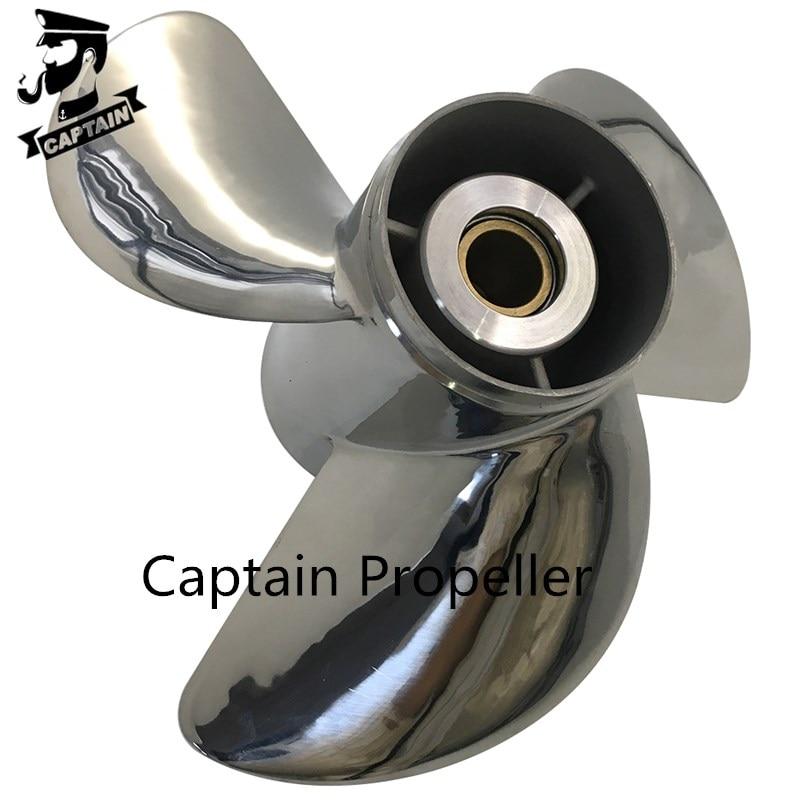 Captain Propeller 13 1/4 x17 Fit Mercury Outboard Engines 80HP 90HP 100HP 115HP 125HP 140HP Stainless Steel 15 Tooth Spline RH enlarge
