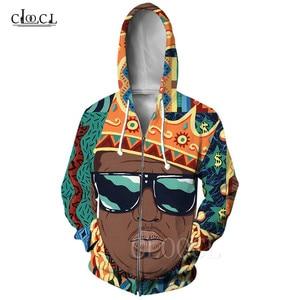 Biggie Smalls Zipper Hoodie Streetwear American Rapper The Notorious B.I.G. 3D Printed Unisex Harajuku Zip Sweatshirt Hoody Tops