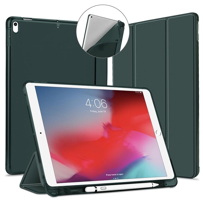 For iPad 2018 Case ipad 10.2 2019 10.5 with Pencil Holder Funda for iPad 6th 7th Generation / Mini 5 / 2018 9.7 Case Cover Capa