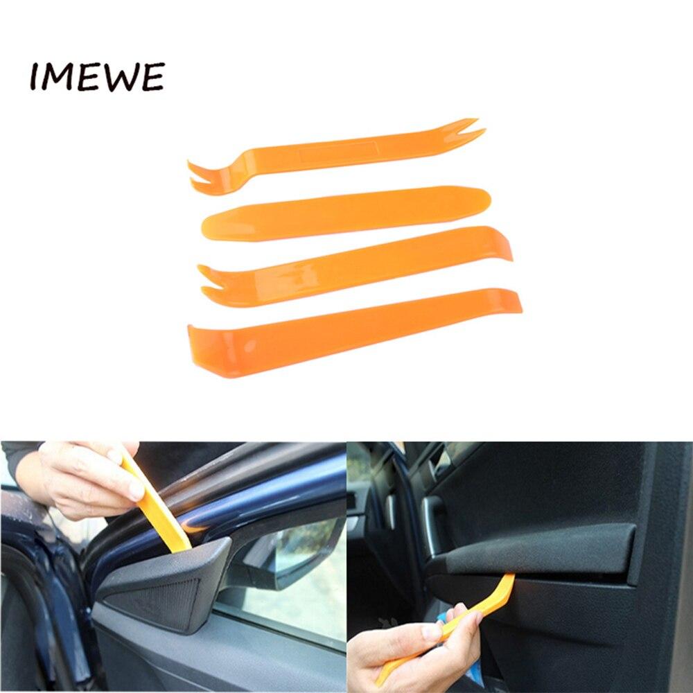 4 pçs portátil ferramenta interior do carro painel de rádio porta clipe painel guarnição traço remoção áudio instalador pry kit reparação ferramenta