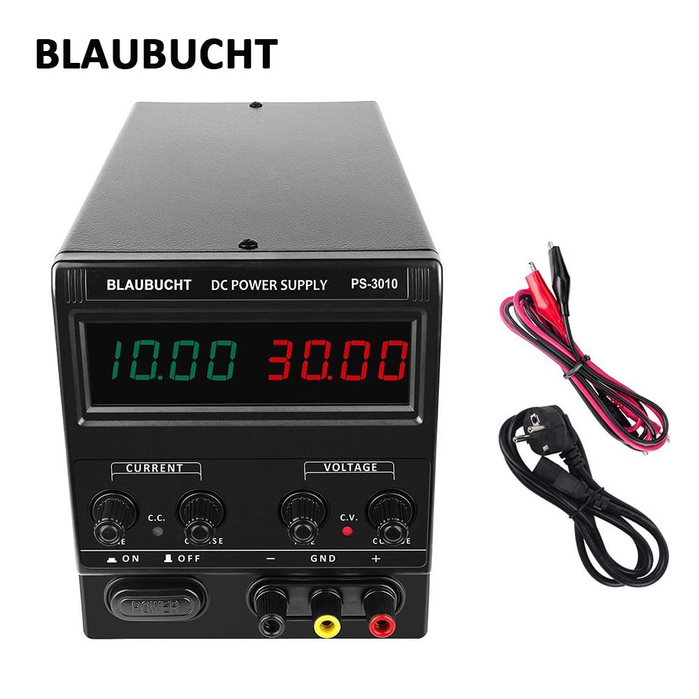 Blaubut-مزود طاقة للمختبر DC ، مصدر تبديل قابل للتعديل ، جهد رقمي 4 أرقام ، 30 فولت 60 فولت 120 فولت 10 أمبير 5 أمبير 3 أمبير