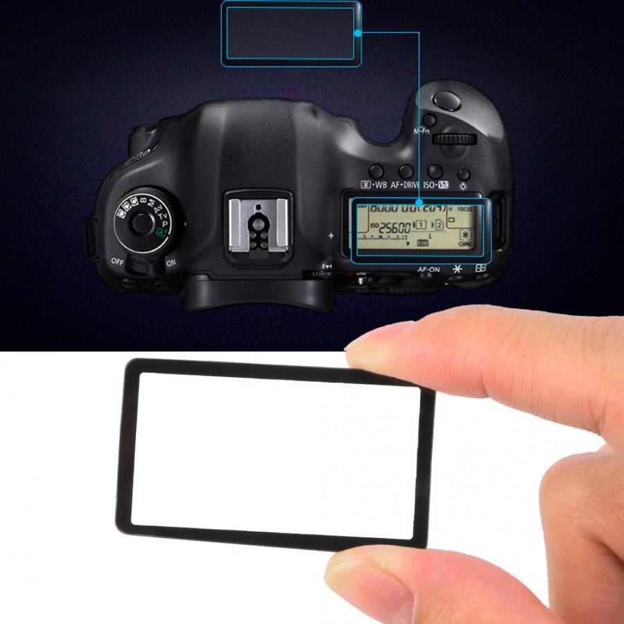 Cubierta protectora de cristal de la ventana de la pantalla del LCD exterior superior de la Cámara de acrílico adecuada para la pantalla de protección de la pantalla de la Cámara de Nikon D750 D7500