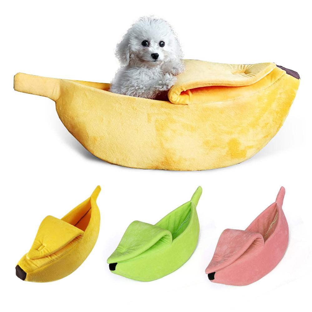 Perro Banana gato cama casa para gatos cachorro perro cachorro acogedor perrera caliente mascota alfombrilla para cesta camas gato casa suministros para mascotas